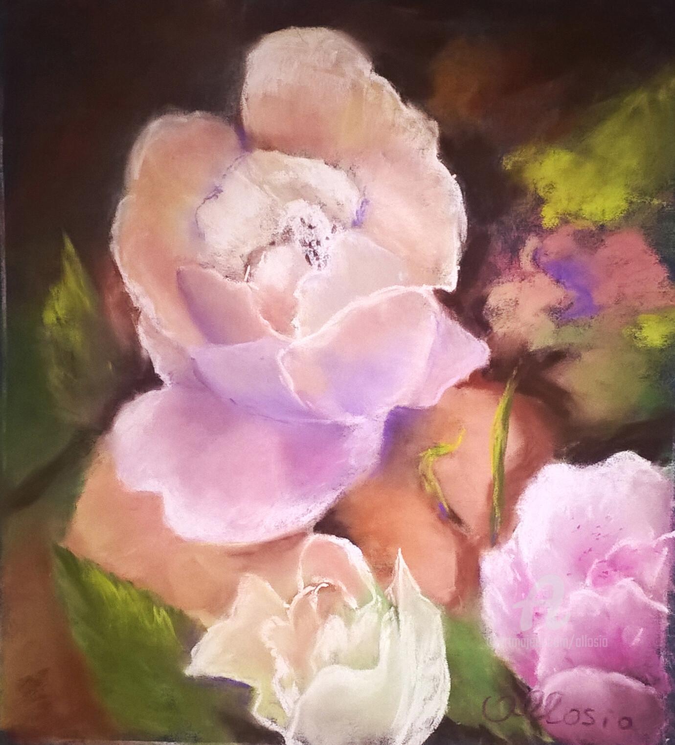 Claudette Allosio - Les roses du jardin