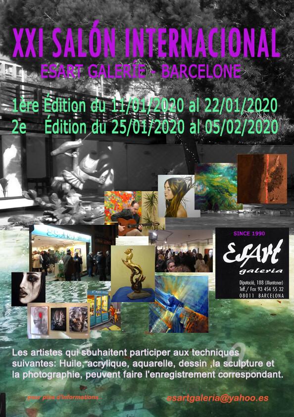 Claudette Allosio - XXIe salon international d'art contemporain à Barcelone