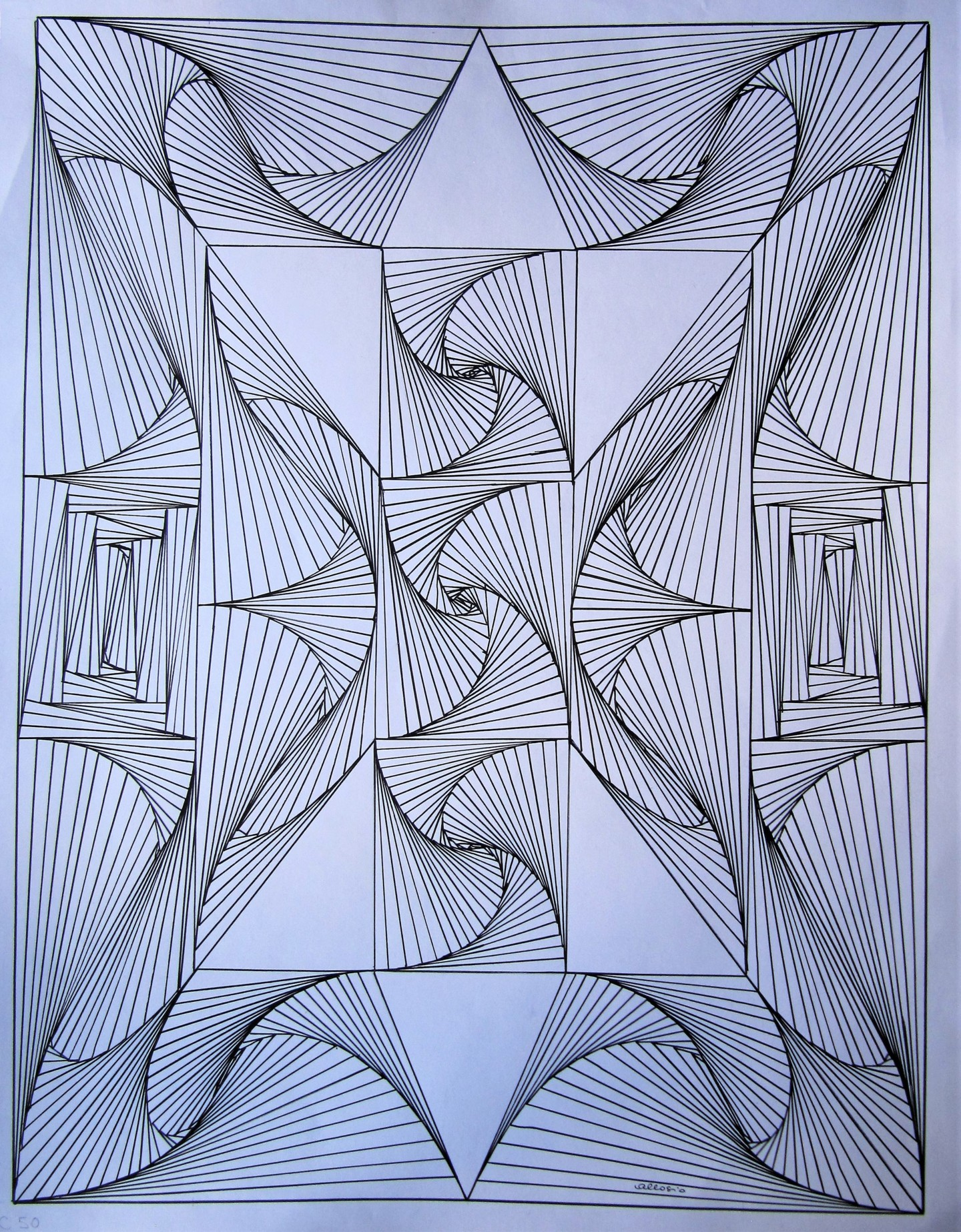 Claudette Allosio - C50_les triangles