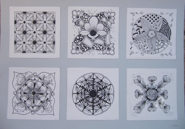 Claudette Allosio - Mosaique sur fond blanc