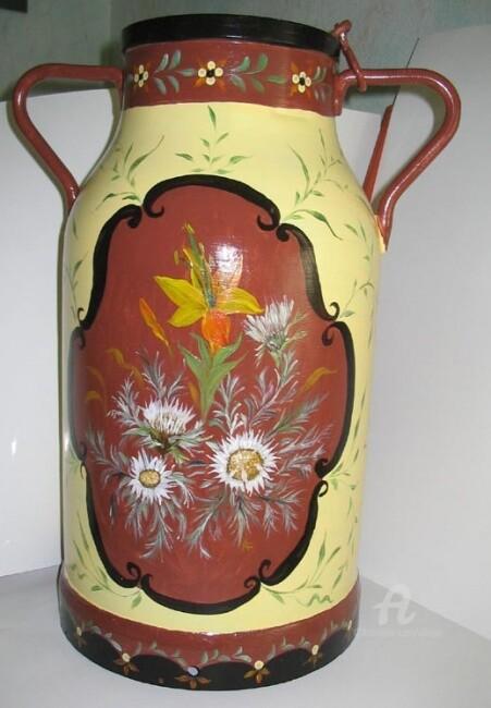 Claudette Allosio - bidon lait decore