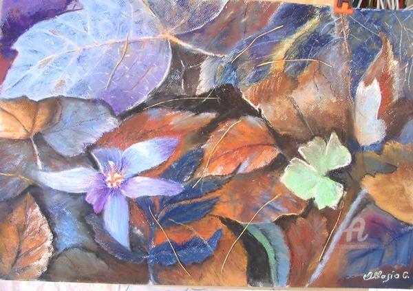 Claudette Allosio - tapis vegetal automnal