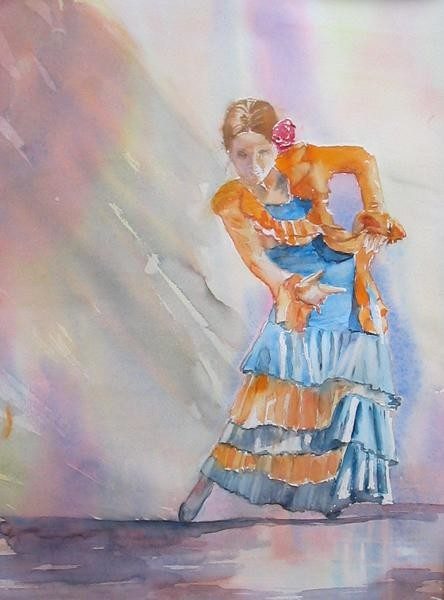 Claudette Allosio - la danseuse espagnole