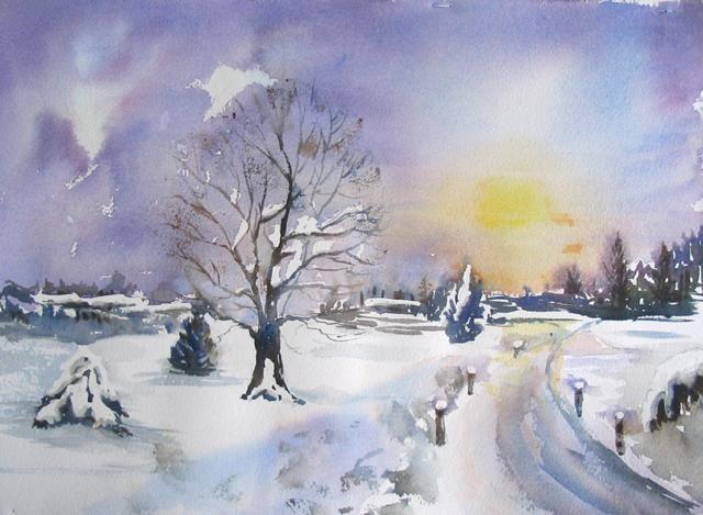 Claudette Allosio - paysage enneigé