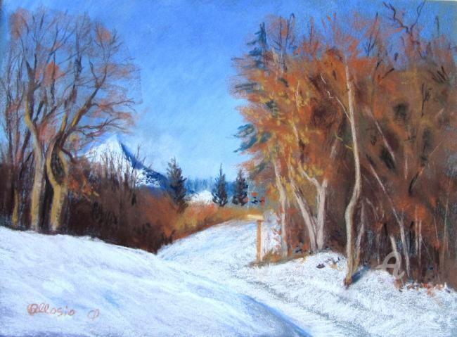 Claudette Allosio - le Rachais en hiver