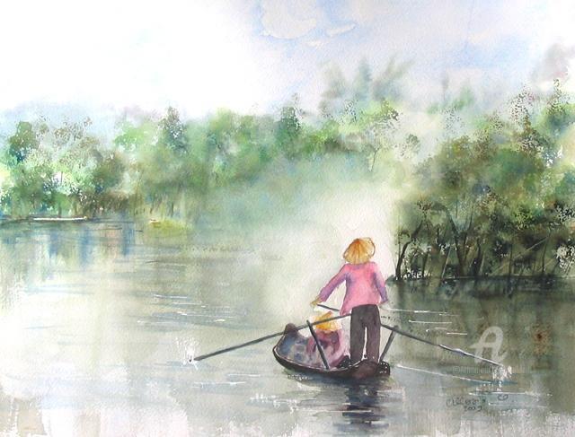 Claudette Allosio - paysage asiatique