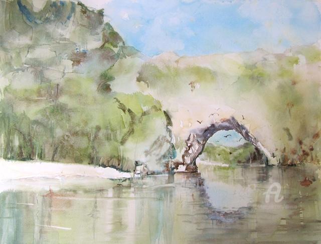 Claudette Allosio - Le pont d'Arc