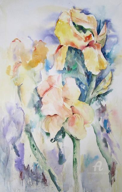 Claudette Allosio - Iris du jardin