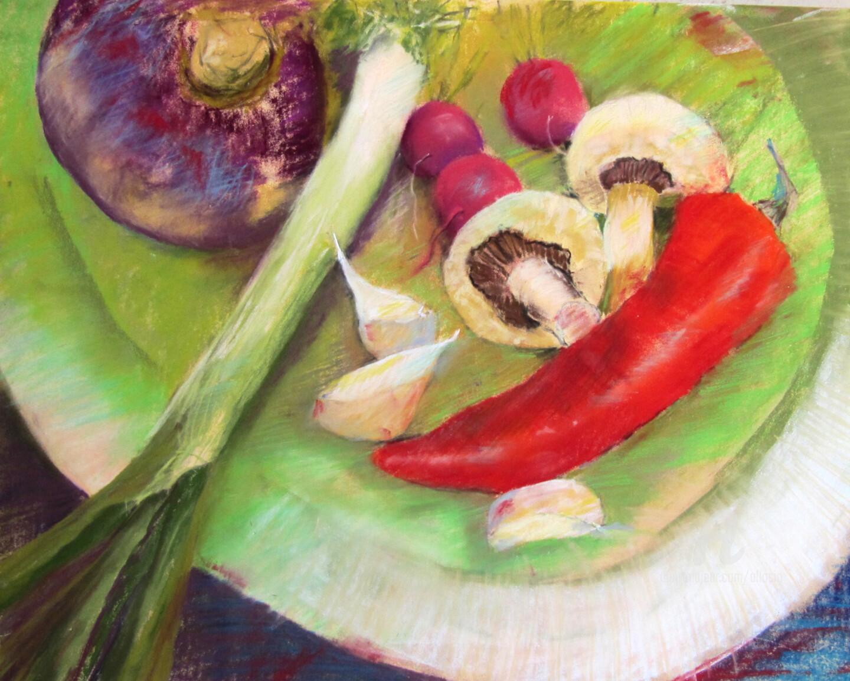 Claudette Allosio - Assiette de légumes#artistsupportpledge