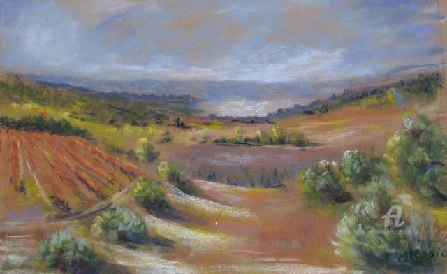 Claudette Allosio - Vignes dans le Midi