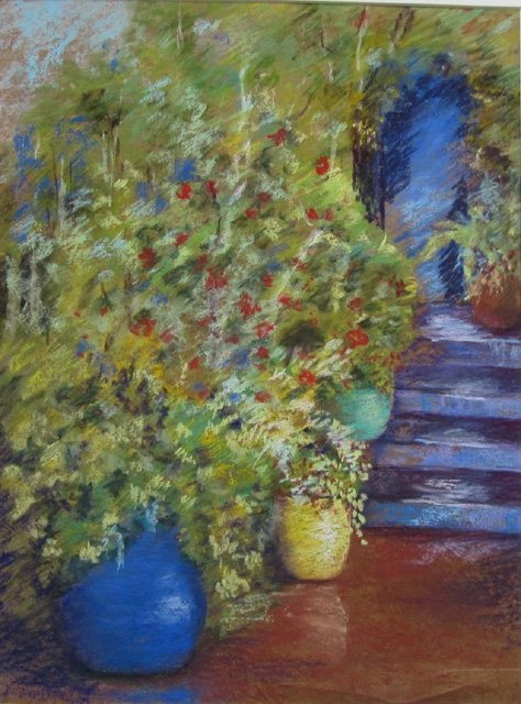 Claudette Allosio - Jardin au Maroc