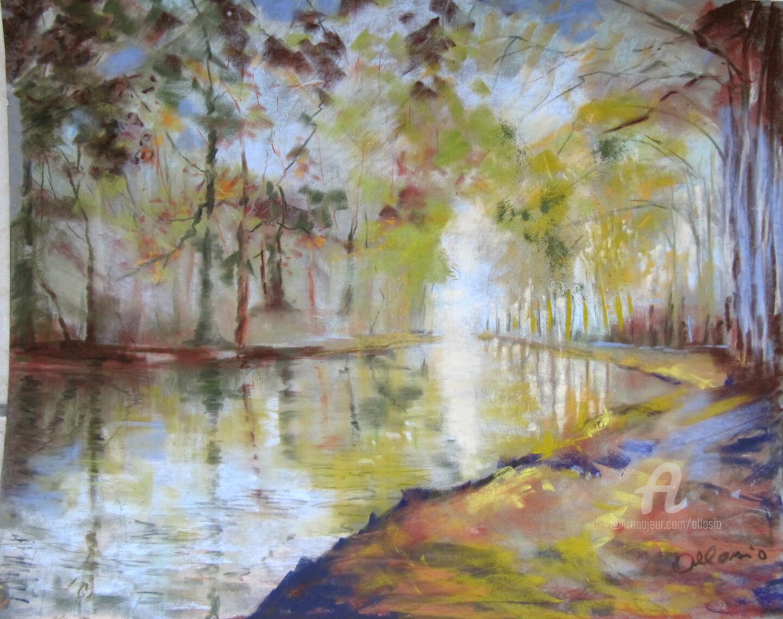 Claudette Allosio - Au bord du Canal du Midi