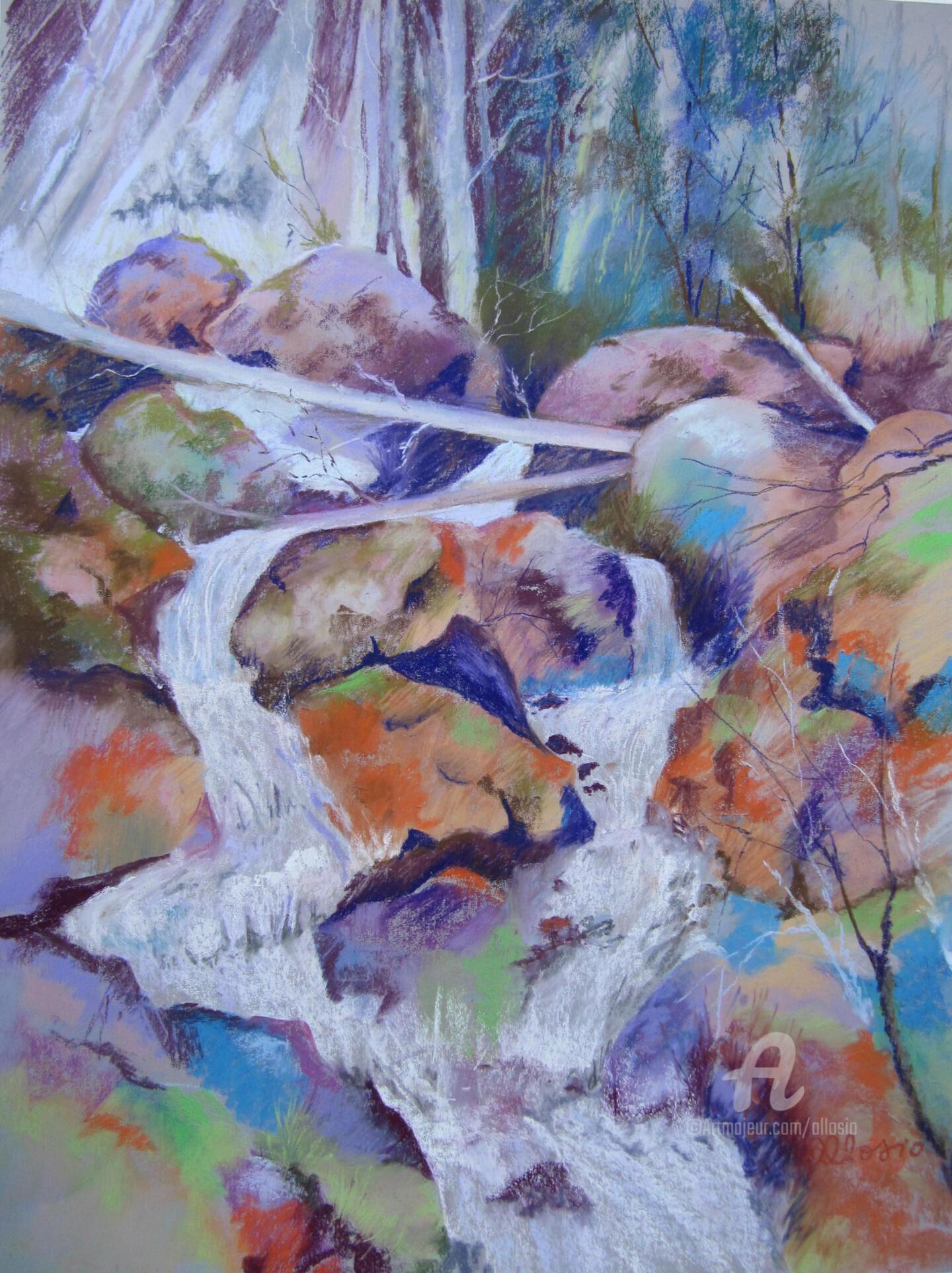 Claudette Allosio - au bord de la cascade