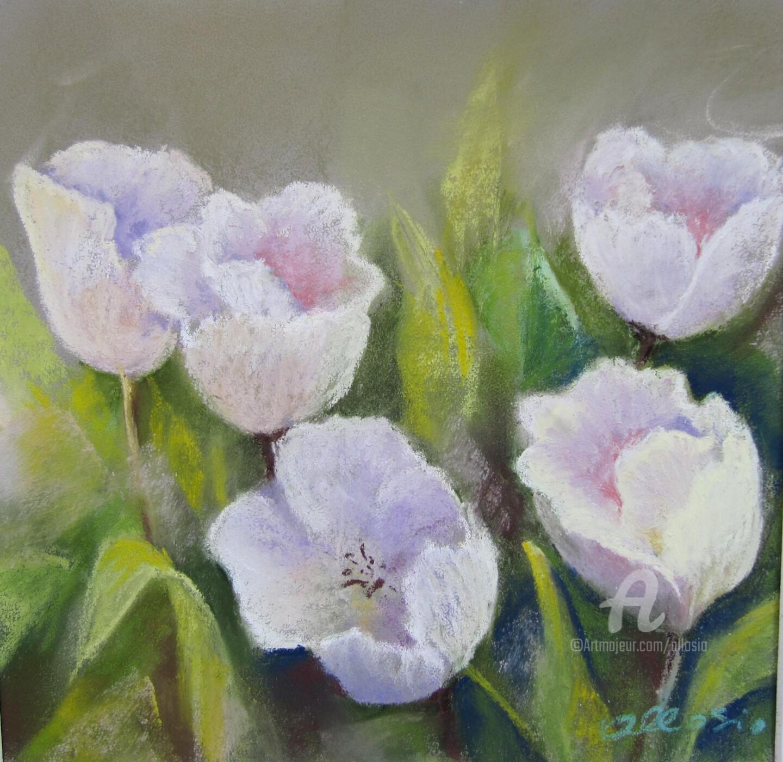 Claudette Allosio - tulipes-blanches