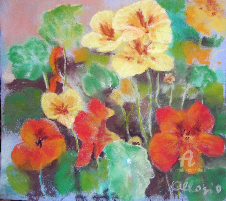 Claudette Allosio - capucines-printanieres-20x20.jpg