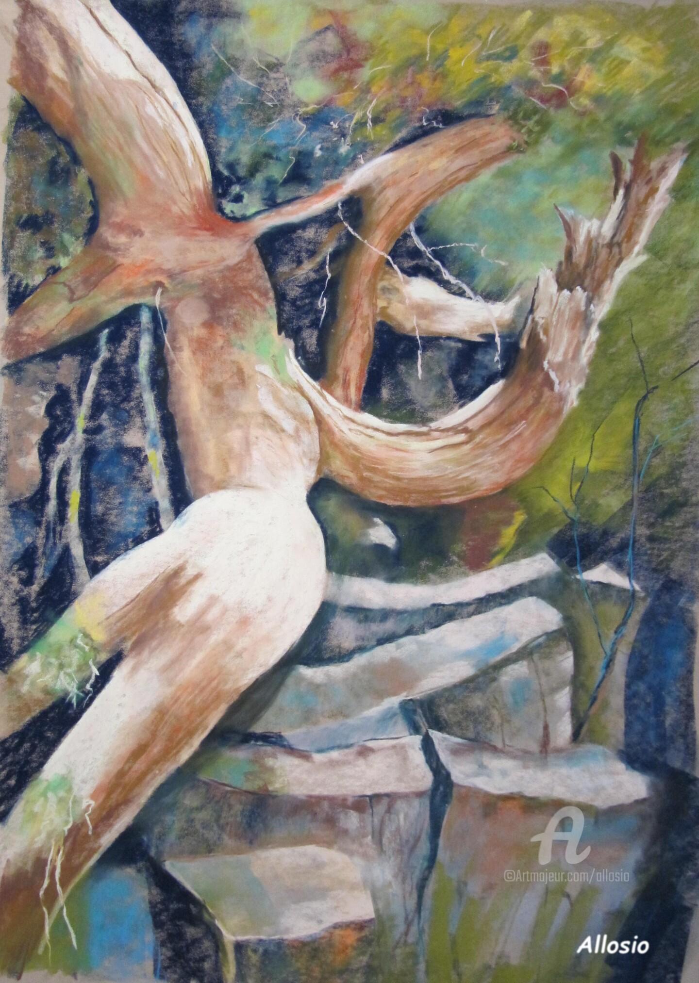 Claudette Allosio - Dans les rochers