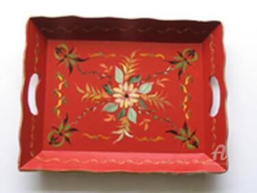 plateau rouge stylisé