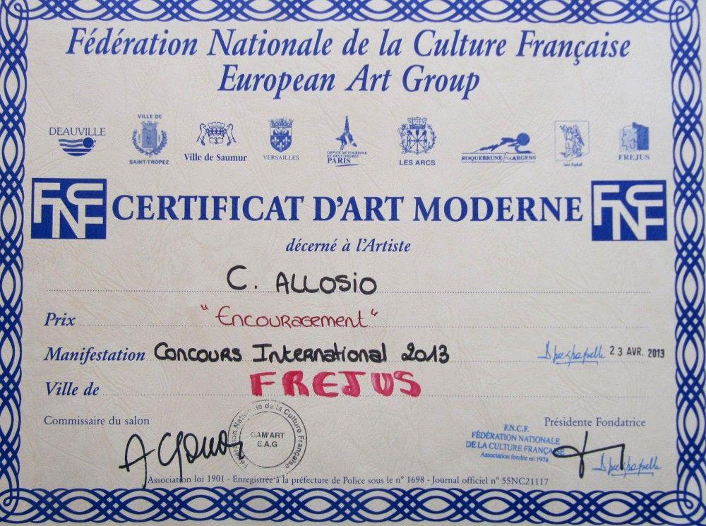 Concours international 2013 de la FNCF - European Art Group