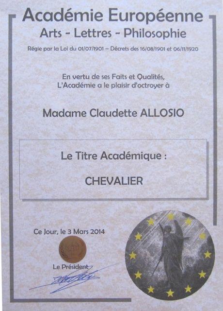 Académie européenne Arts-Lettres-Philosophie - Section ARTS