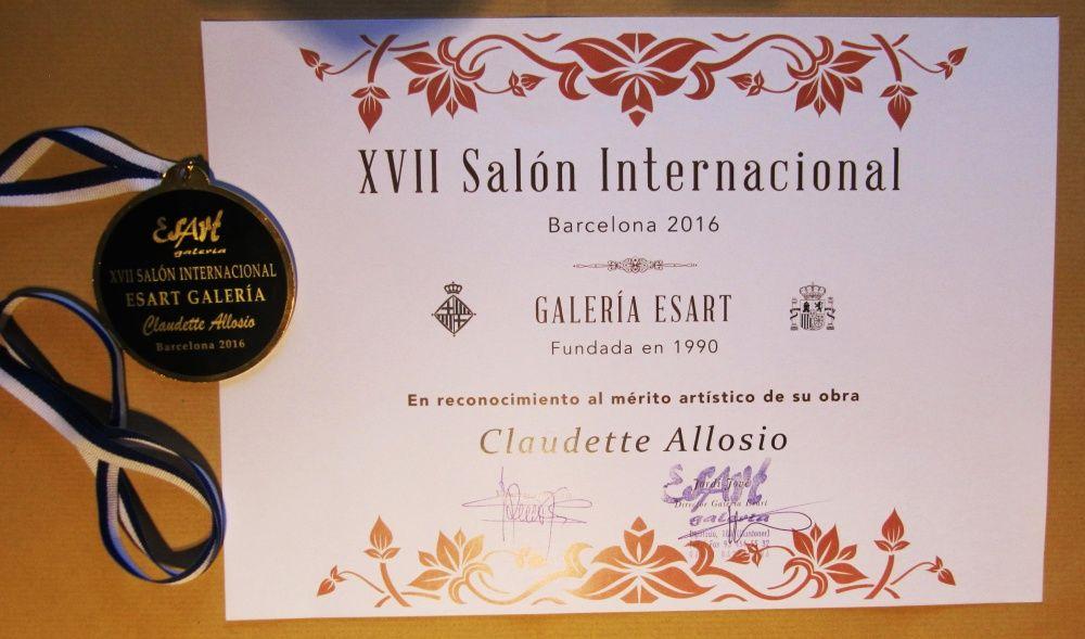 Prix du Jury au Salon International à Barcelone (Esp.) janvier 2016