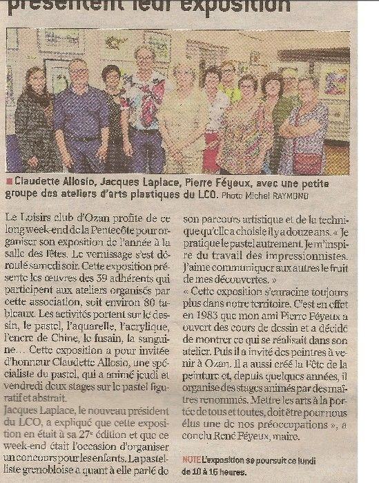 Article dans la presse de l'Ain