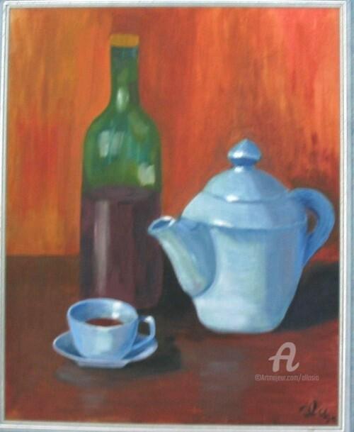 Claudette Allosio - cafetiere bleue