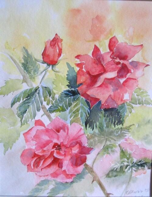 Claudette Allosio - roses flamboyantes