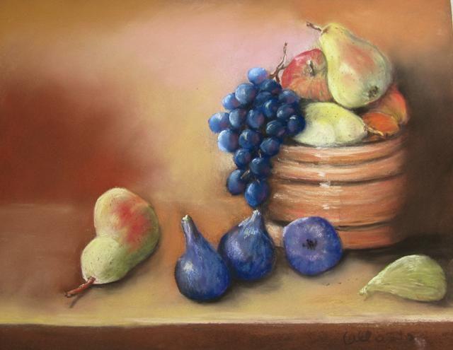 Claudette Allosio - nature morte aux fruits d'automne2