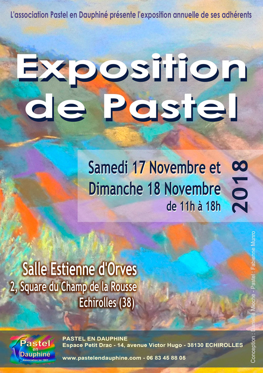 pastel, exposition